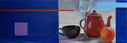 Prawdopodobnie, 2015, olej na płótnie, 20 x 60 cm / Maybe, 2015, oil on canvas, 20 x 60 cm