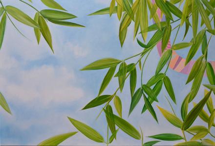 Uwaga! Zielony!, 2015, olej na płótnie, 80 x 120 cm / Caution! Green! 2015, oil on canvas, 80 x 120 cm