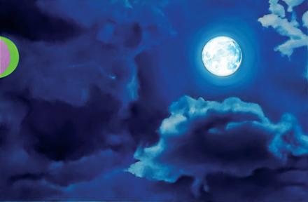 Zapomniany księżyc, 2015, olej na płótnie, 80 x 120 cm / The Forgotten Moon, 2015, oil on canvas, 80 x 120 cm