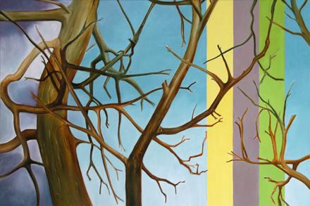 Trzy drzewa, 2016, olej na płótnie, 80 x 120 cm / Three Trees, 2016, oil on canvas, 80 x 120 cm