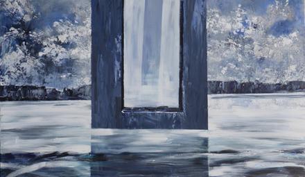 okno i woda, 2016, akryl na płótnie, 120x200cm