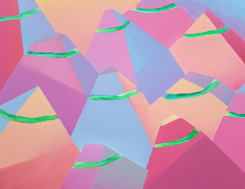 Góry ze światłem, 2018, 60x80cm