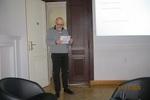 Przewodniczący Komisji Rewizyjnej Paweł Buczyński odczytuje sprawozdanie KR z działalności Towarzystwa.
