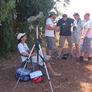 Spotkanie na punkcie z ornitologami z Izraela.