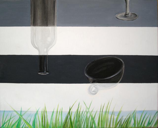 Zebra3, 2011, oil, 40 x 50 cm