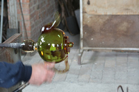 Praca w hucie szkła na Murano w Wenecji 2008 / Work in a furnace on Murano, Cenice, 2008