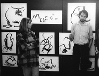 Performance, biekty i rysunki, 1988, BWA Zielona Góra