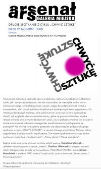 """""""CHWYĆ SZTUKĘ"""" 09.03.2016, GODZ. 18:00"""