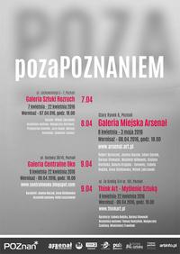 """Wystawa """"pozaPOZNANIEM"""" Galeria Miejska Arsenał, 8 kwietnia 2016, godz. 18:00,"""