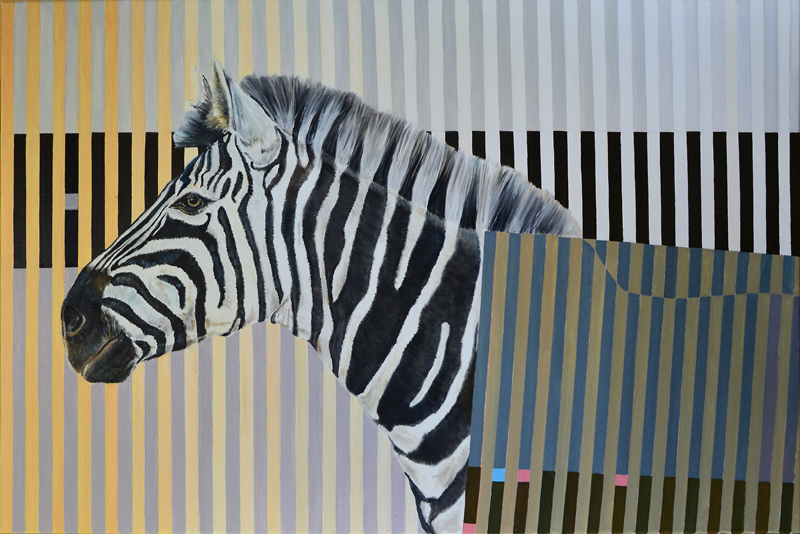 Valis Zebra, 2015, oil on canvas, 80 x 120 cm