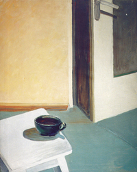 Stool and Door, oil, 1993, 80 x 90 cm