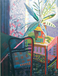A palm, 1991, oil, 110 x 80 cm, private collection