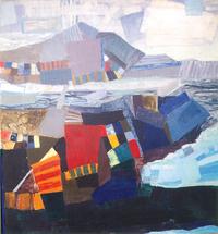 A Bay, 1989, oil, 130 x 130 cm