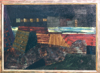 A City, 1989, oil, 85 x 110 cm, private collection