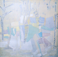 Winter, 1988, oil, 101 x 101 cm