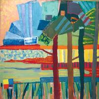 Summer, 1989, oil, 101 x 101 cm