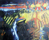 Three Suns, 1987, oil, 100 x 120 cm, private collection
