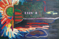 Green Sun, 1988, oil, 80 x120 cm