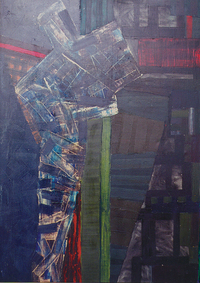 A City, 1988, oil, 140 x 90 cm