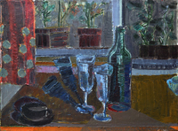 Black Bottle, 1995, oil, 54 x 73 cm