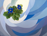 Violet, 2008, oil, 30 x 40 cm