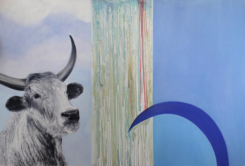 Splot, 2017, olej na płótnie,, 80 x 120 cm
