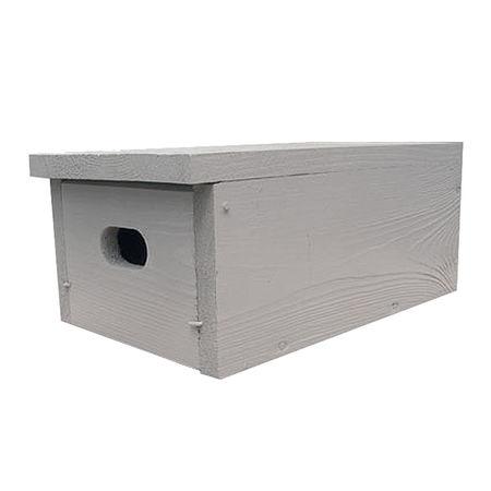 Budka dla jerzyka podłużna (mocowana pod okapem lub balkonem) - kolor szary