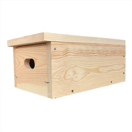 Budka dla jerzyka podłużna (mocowana pod okapem lub balkonem)