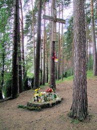Pomnik Jana Pawła II nad jez. Krępsko