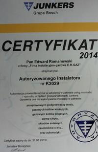 AUTORYZOWANY instalator Firmy JUNKERS