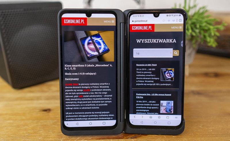 LG G8X to najlepszy smartfon do przeglądania internetu