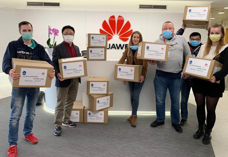 Huawei Polska - 20 tysięcy masek ochronnych dla szpitala MSWiA