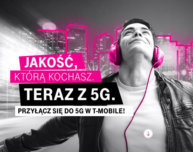Sieć T-Mobile 5G magicznie przyspiesza do 300 Mbps
