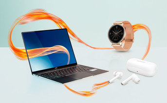 Ceny Huawei MateBook X Pro z Watch GT 2 ELEGANT i FreeBuds 3i w Orange