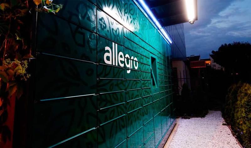 Allegro - własny automaty paczkowe