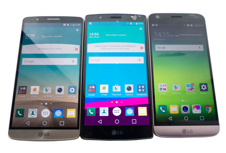 LG G3, G4, G5