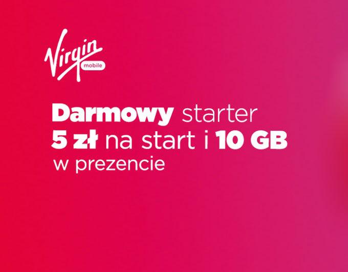 Odbierz darmowy starter i 10 GB internetu od Virgin Mobile!