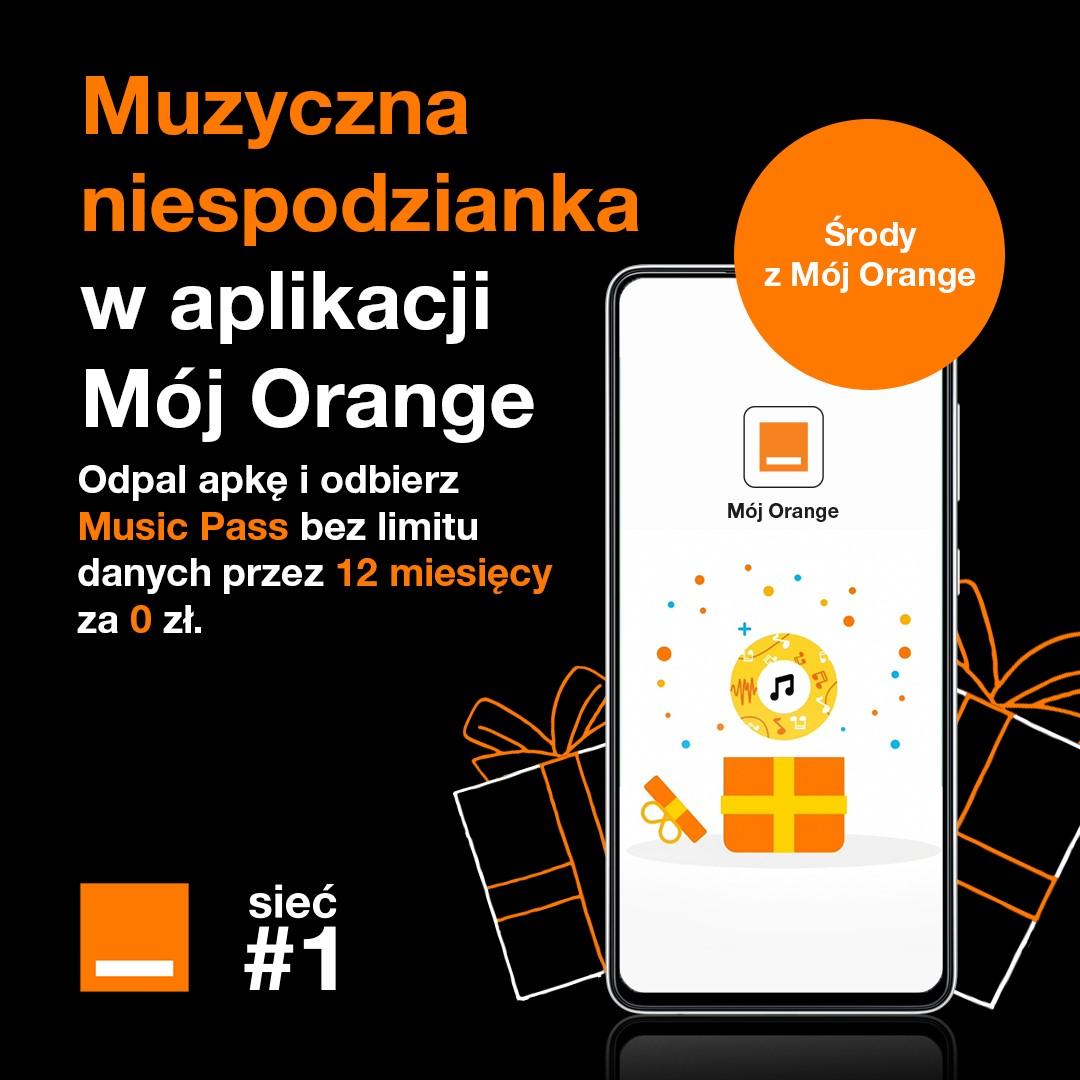 Music Pass za darmo w aplikacji Mój Orange