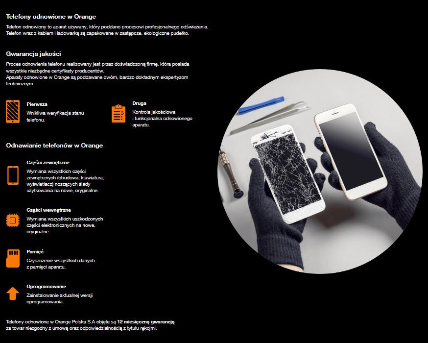 Odnowiony iPhone 11 w Orange