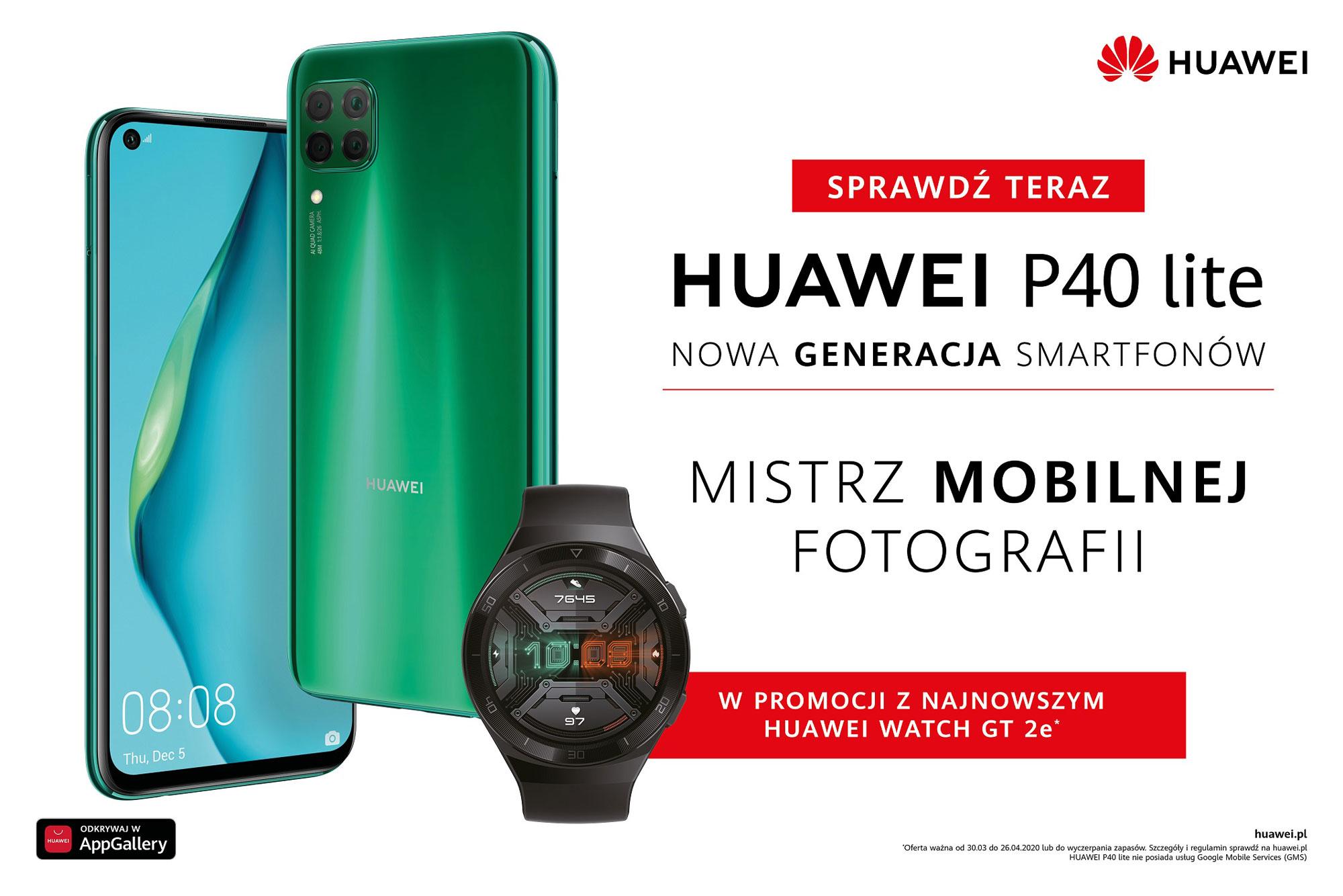 Huawei P40 lite z Watch GT 2e za 1599 zł