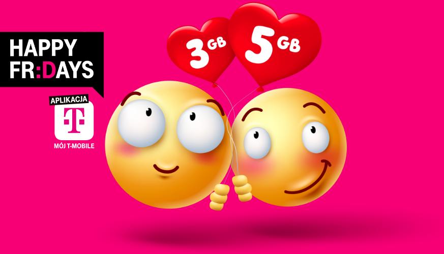 Darmowe 3 GB dla ciebie i 5 GB dla bliskiej osoby w T-Mobile
