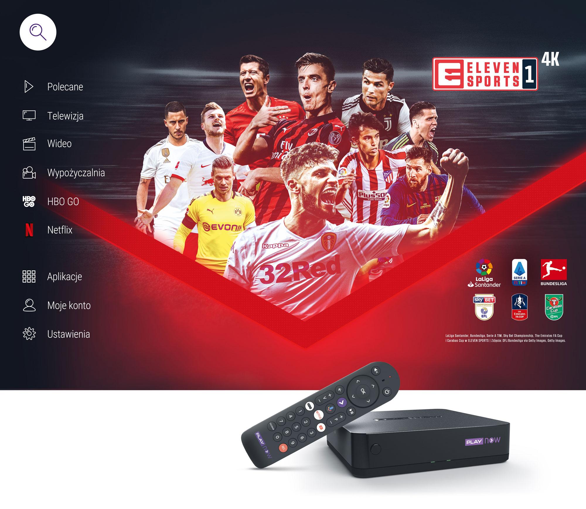 Eleven Sports w 4K dostępne w PLAY NOW TV BOX