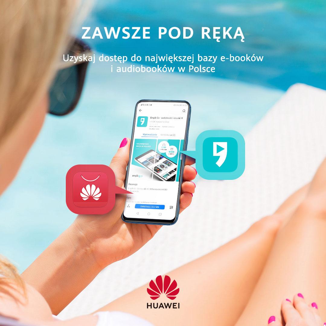 Darmowe ebooki, audiobooki i filmy dla właściciele smartfonów i tabletów Huawei
