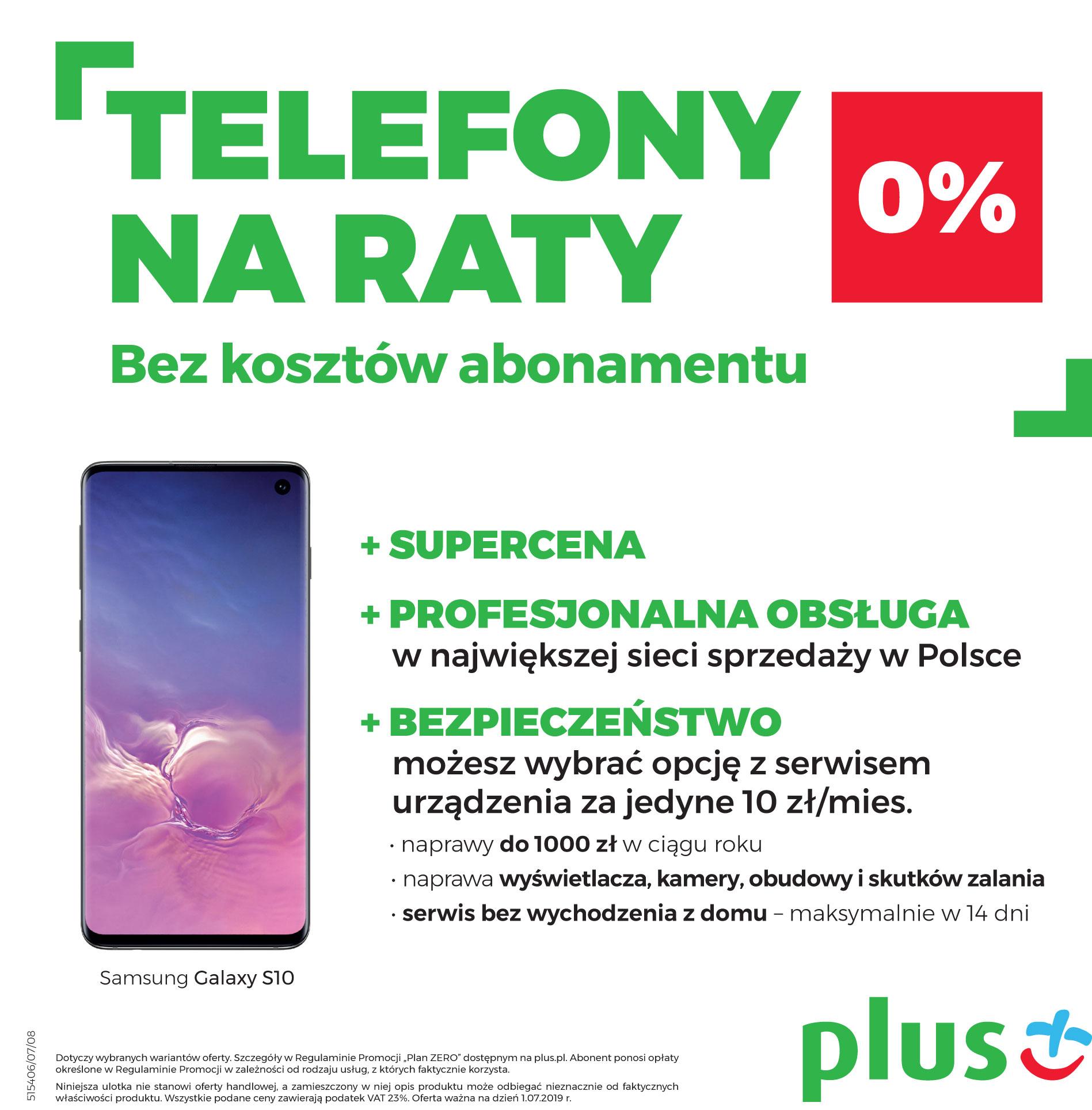 Katalog urządzeń na raty 0% bez abonamentu w Plusie