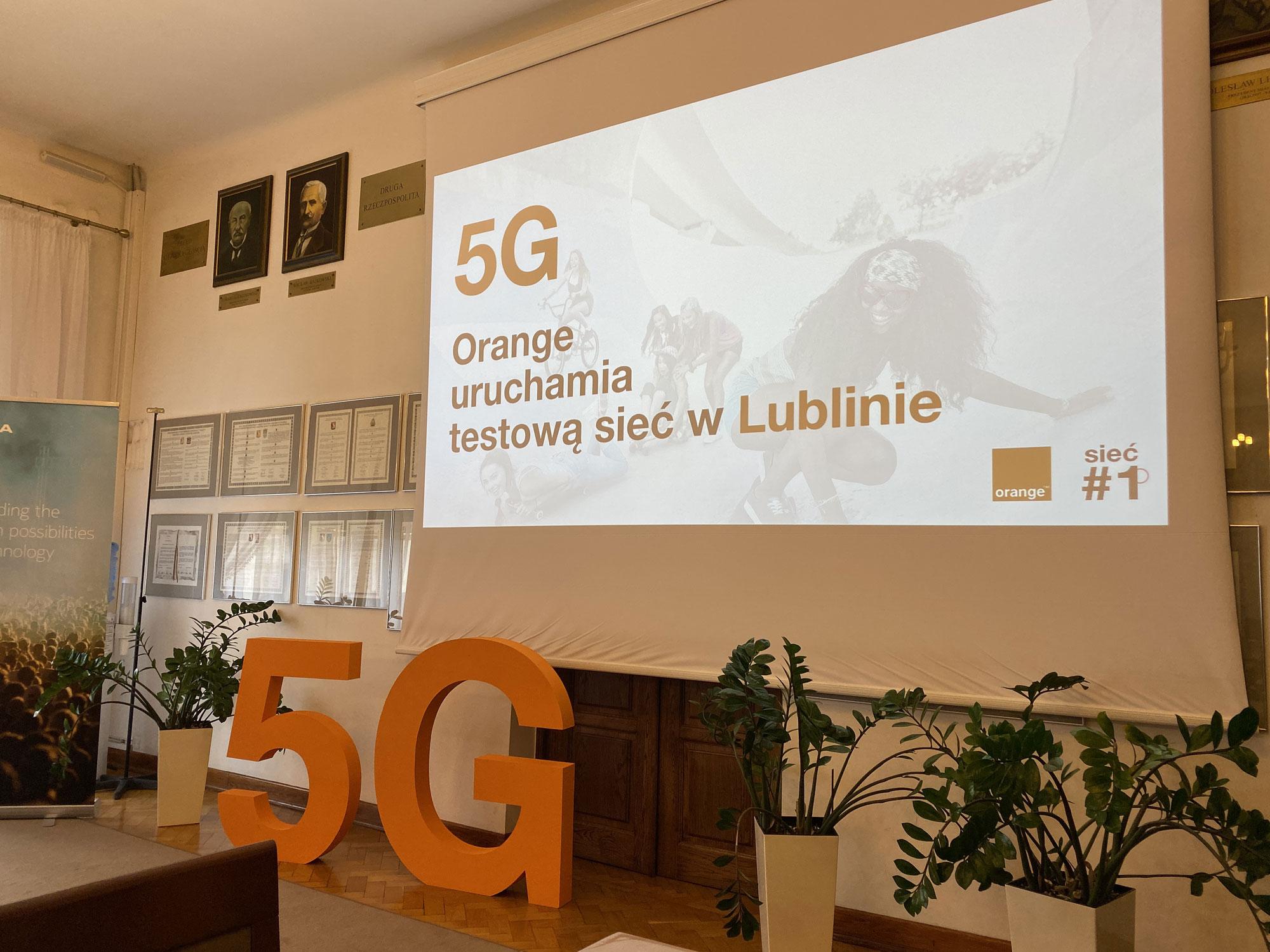Orange Polska rozpoczął testy sieci 5G w Lublinie