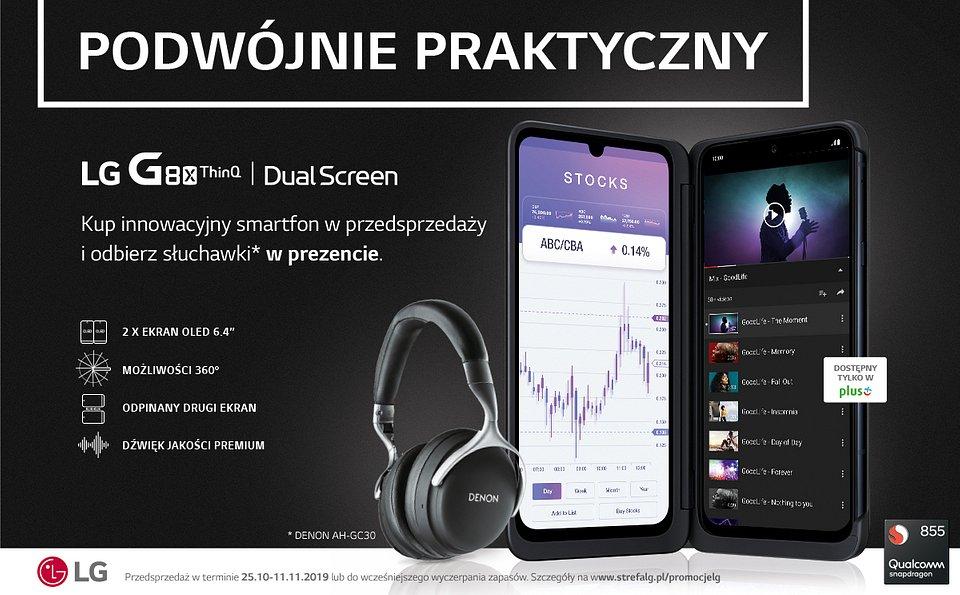 LG G8X ThinQ z dodatkowym ekranem LG Dual Screen