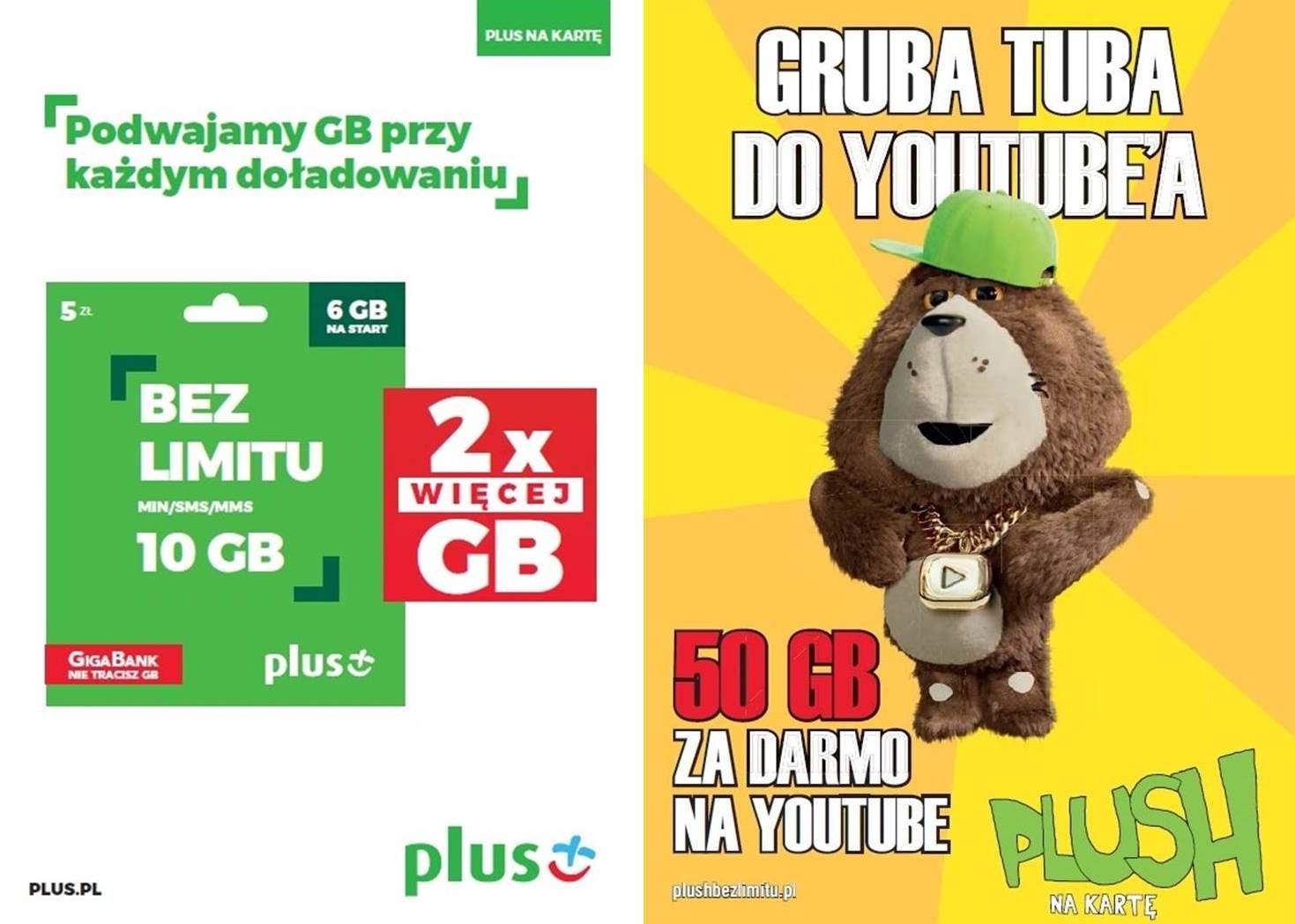 Promocja 2x więcej GB i Gruba Tuba na Youtuba