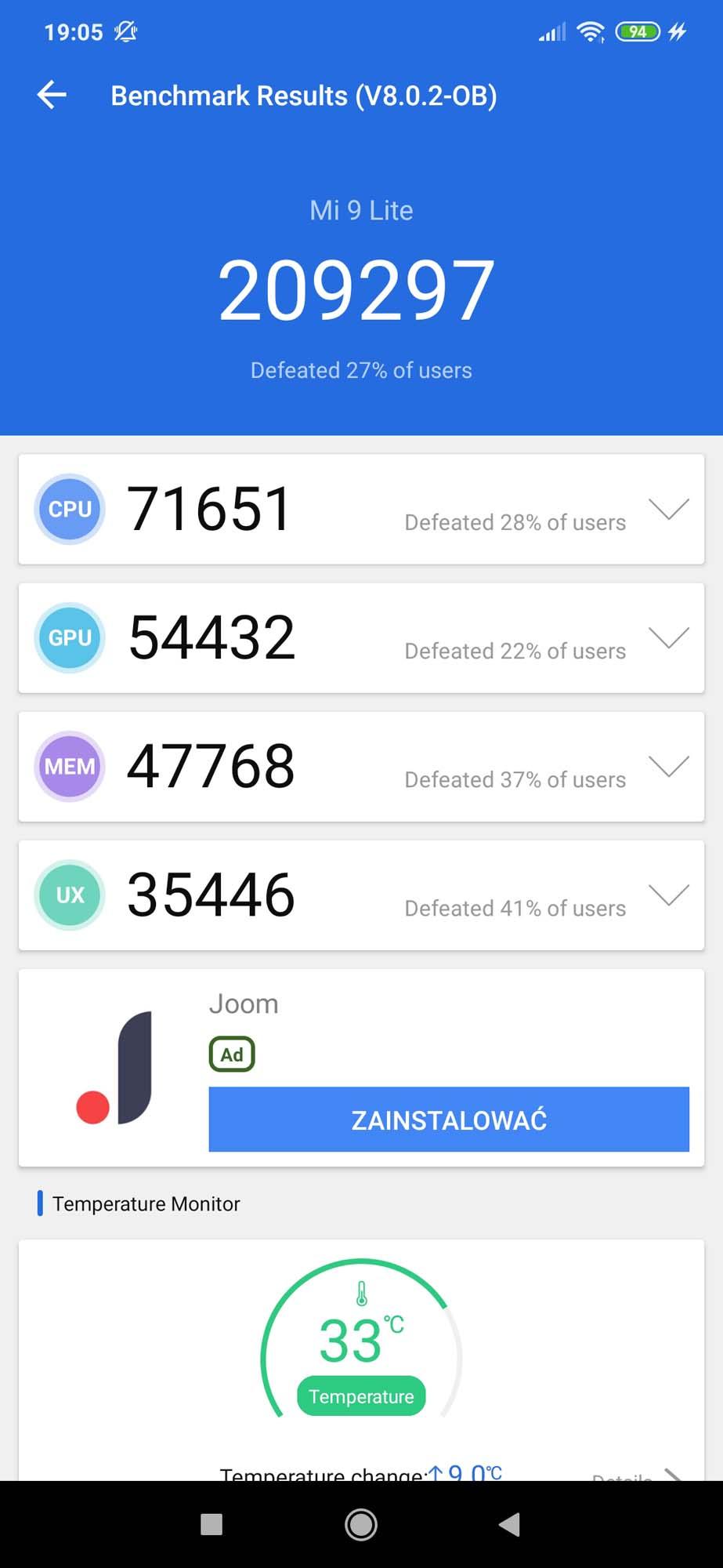Xiaomi Mi 9 Lite - zrzut ekranu