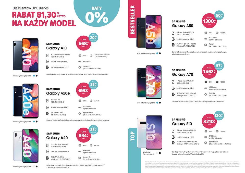 Smartfony Samsung w UPC Biznes