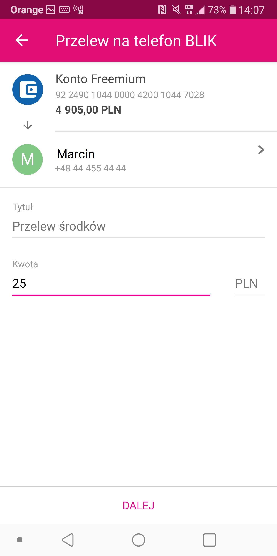 Przelewy na numer telefonu BLIK dostępne dla klientów T-Mobile Usługi Bankowe